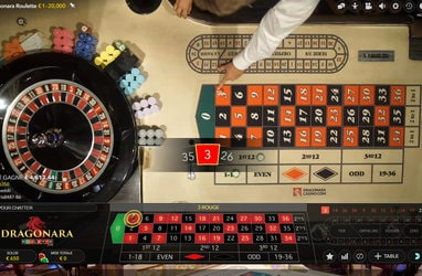 Roulette en ligne Dragonara Roulette en direct d'un casino Maltais