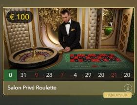 Live Roulette Salon Prive pour joueurs VIP
