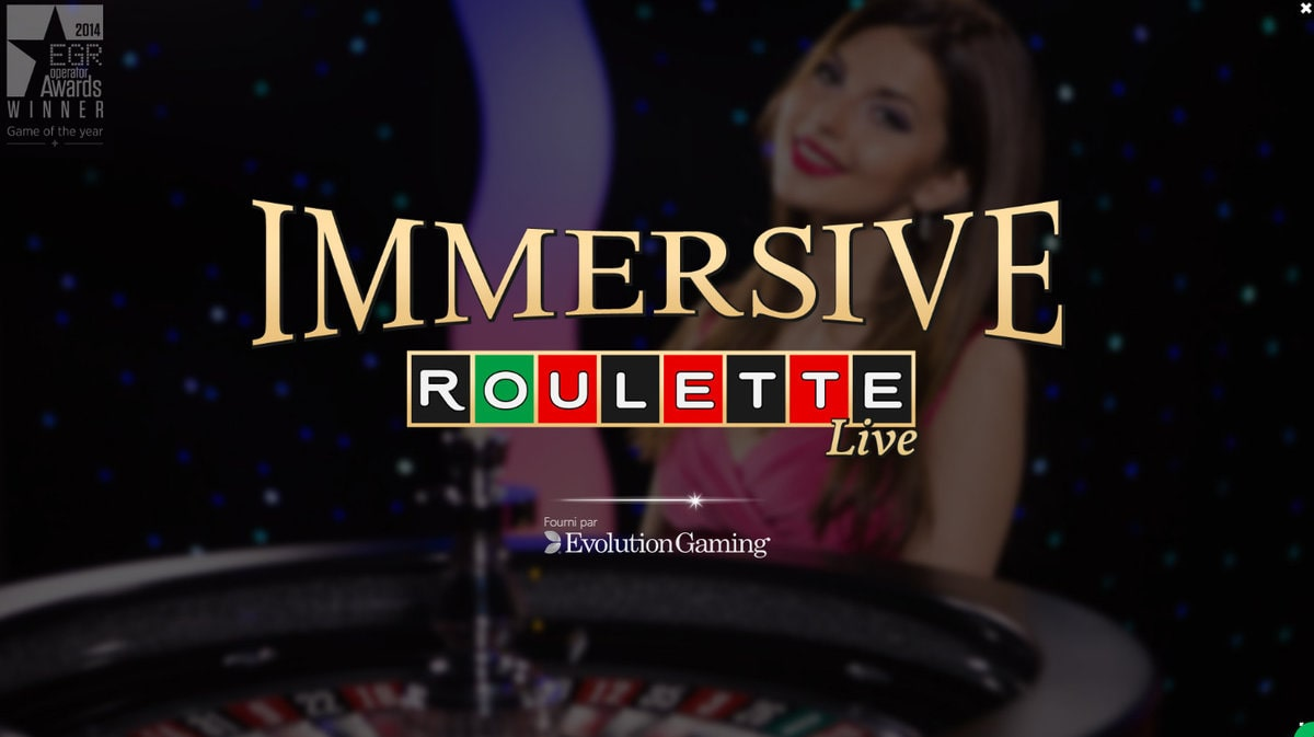 Immersive Roulette est une table de jeu phare d'Evolution Gaming