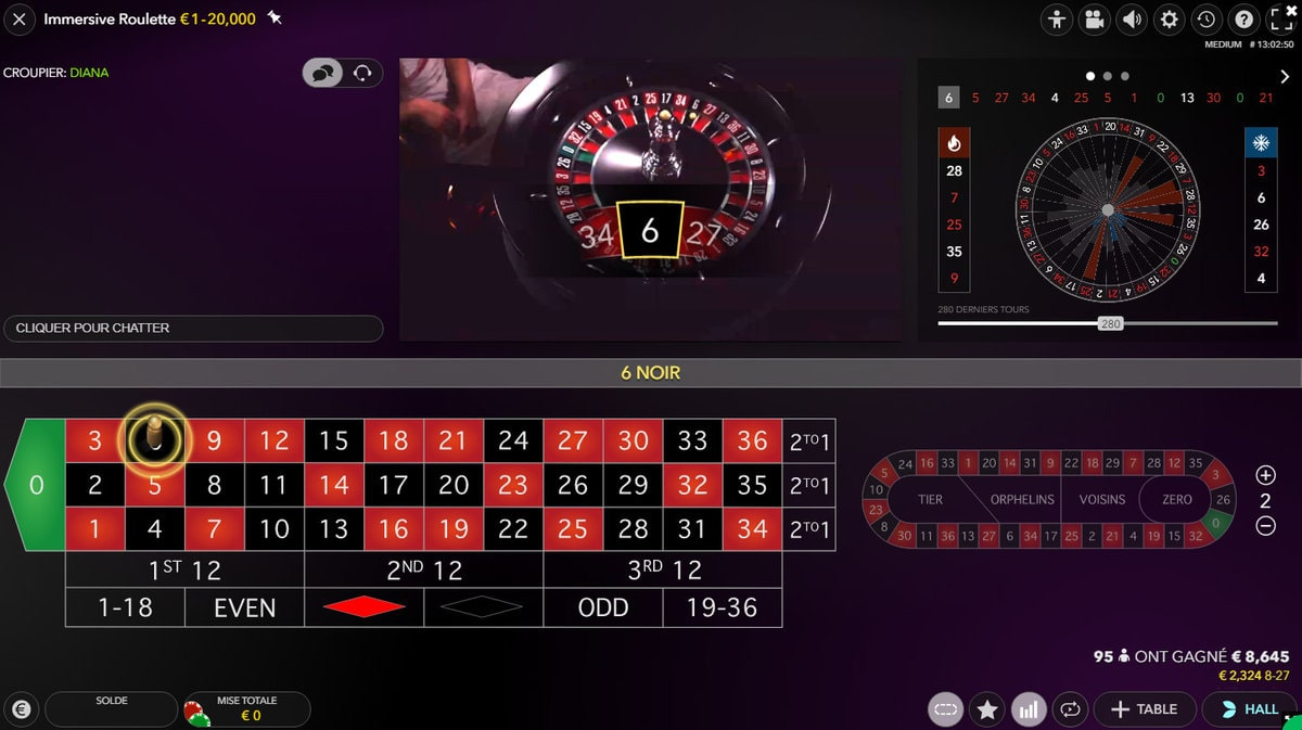 Plan de la Roulette Immersive en streaming d'un studio