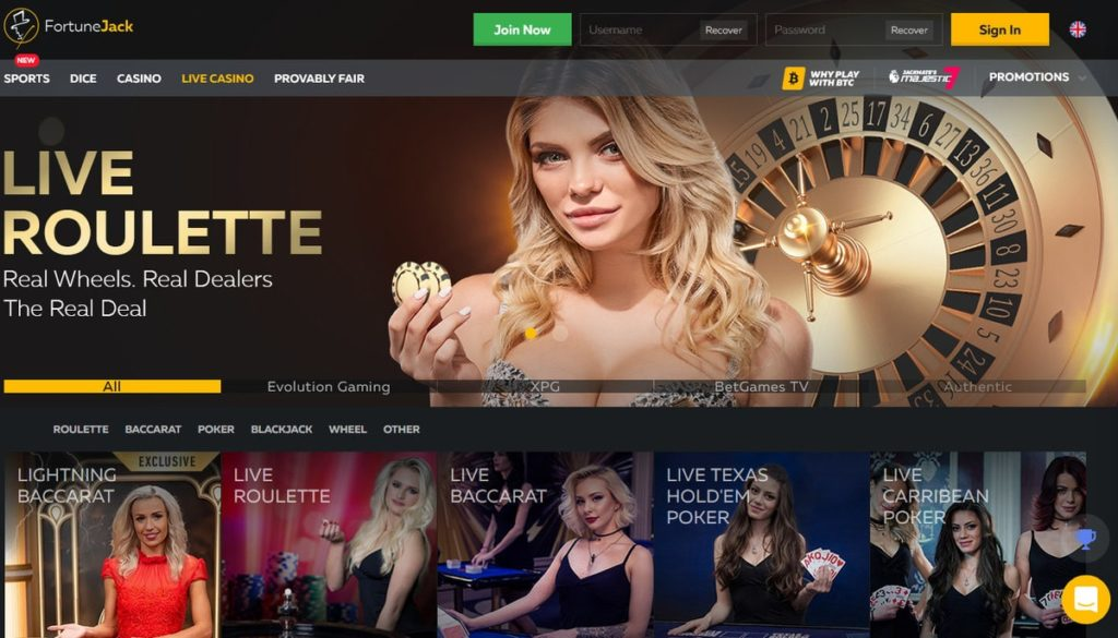 Casino Fortunejack en Bitcoin