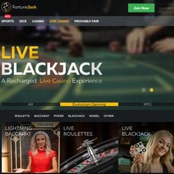 Détails sur les jeux avec croupiers en live sur FortuneJack