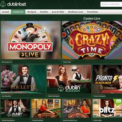 Dublinbet leader des casinos avec jeux en live