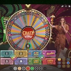 Roue de la Fortune Crazy Time sur Crésus Casino
